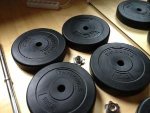Gewichtsscheiben für Hantelbank-Traning